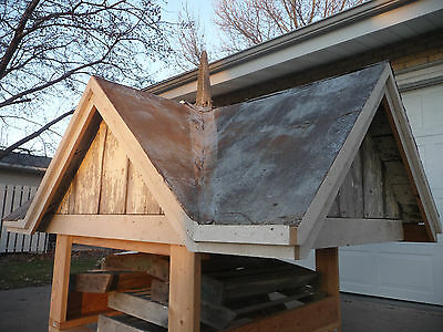 Antique Four Sided Barn Cupola with Roof Finial- C. 1870 Architectural Salvage