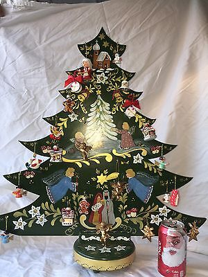 Hand Painted - Christmas Tree WOODEN ADVENT CALENDAR - Days Of Christmas