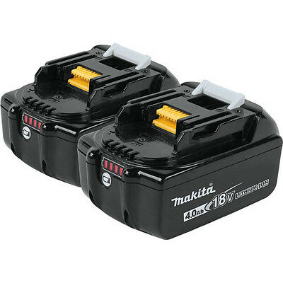 Makita 18V 4.0 Ah LXT Lithium-Ion Battery (2-Pack) BL1840-2 New WITH LED GUAGE!