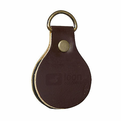 Loon Outdoors Leader Straightener Durable Leather Exterior for Fly Fishing
