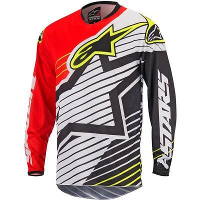 NEW Alpinestars 2017 Racer Braap Red/White/Black Jersey from Moto Heaven