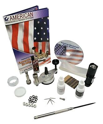 Windshield Repair Kit Auto Glass Repair System rock chip kit (essentials)