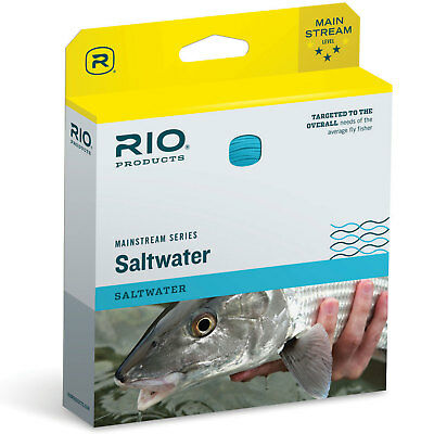 RIO MainStream Saltwater Fishing Fly Line Weight Forward Floating Light Blue