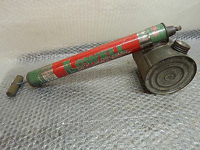 "Vintage Lowell Bug Sprayer, Large, 17-1/2"", Tin Sprayer, Display Collectable"