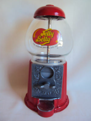 """Collectible Jelly Belly Gumball Machine 8.50"""" Tall Working"""