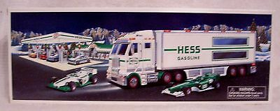 2003 Hess Toy Truck And Race Cars New In Unopened Box  With Bag