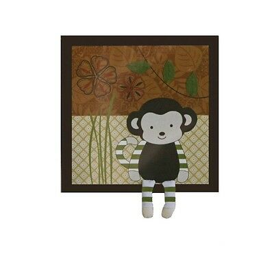 NEW CoCaLo Baby Nali Monkey Jungle Brown Baby Room Dimensional Wall Art Decor