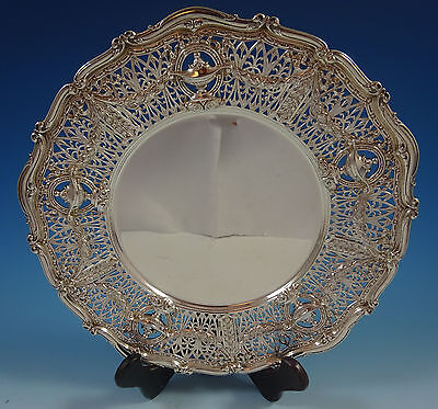 Graff, W and D Sterling Silver Charger Plate Pierced #3728 (#1366)