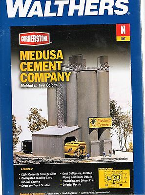 N Scale Walthers Cornerstone 933-3218 Medusa Cement Company Building Kit