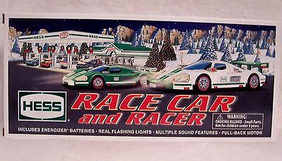 2009 Hess Toy Truck Race Car and Racer With Bag