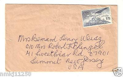 IRISH STAMP 1965 Vox Hiberniae AIR MAIL 1/5 EIRE 1968 LETTER FROM DUBLIN TO USA