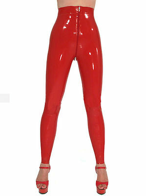100% Latex Rubber Gummi Legging Pants Trousers Catsuit Suit Bottom Jeans Zipper