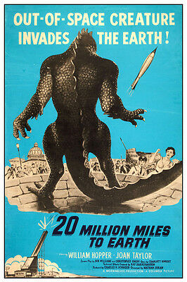 """VINTAGE - 20 MILLION MILES TO EARTH MOVIE POSTER 12"""" x 18"""""""