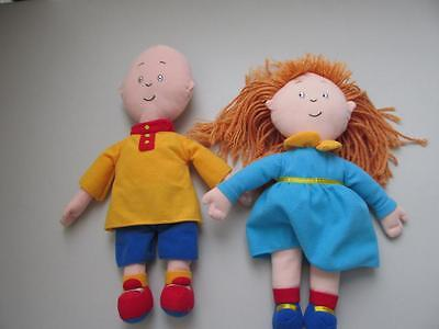 CAILLOU + ROSIE PLUSH DOLLS LOT 14 inches doll CINAR