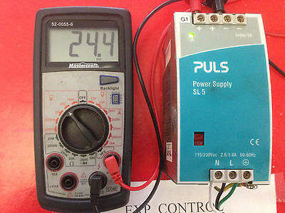 Sl5.100  Puls Power Supply,  100-230Vac In, 24Vdc, 5A Out --Tested