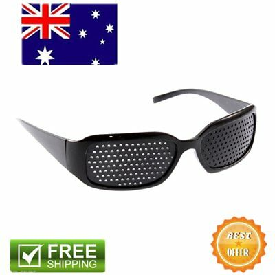 1X Vision Anti-fatigue Eyesight Care Glasses Improver Pinhole Exercise Black AU@
