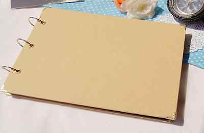 DIY BN 15 PAGE *CREATE YOUR OWN COVER* Blank Kraft Photo Album Wedding Scrapbook