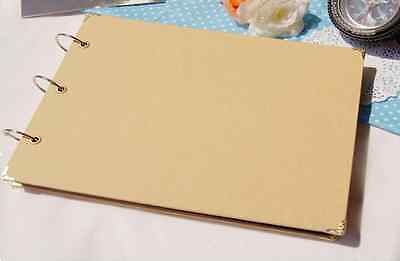 DIY BROWN 15Pg *CREATE YOUR OWN COVER* Blank Kraft Photo Album Wedding Scrapbook