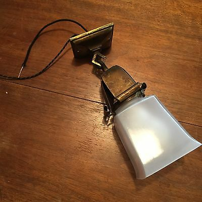 Beautiful Patina Arts & Crafts Vintage Beam Light Hanging Light Globe Wired