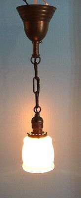 1 Vintage Pendant Light Antique  Globe Fixture Hubbell Socket