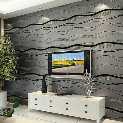 10m Roll 3D Pegatinas de Pared TV Papel Pintado WallPaper Decorar Hogar Casa DIY