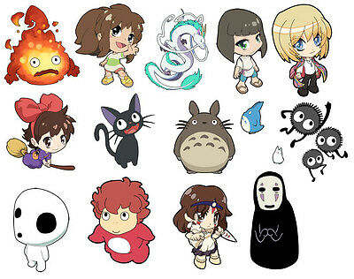 Studio Ghibli anime Art Sticker - Howl, Ponyo, No Face, Calcifer, Haku, + more!