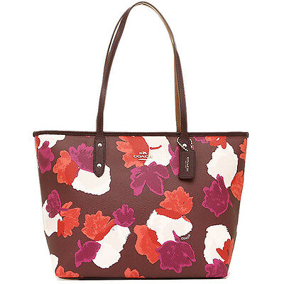 NWT Coach New $295.00 Field Floral City Zip Tote Bag F38396