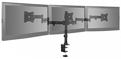 "VonHaus Triple Arm LCD LED Monitor Desk Mount Bracket Stand for 13-27"" Screens"