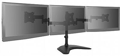 VonHaus Triple Arm LCD LED Monitor Mount Desk Stand for 13-27? Screens Tilt
