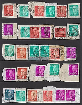 SPAIN - postmarked No.1, some nice cancels, postmarks on piece
