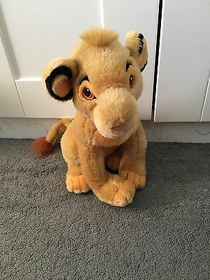 "The Disney Store Large Collectable 14"" Lion King Simba Plush Soft Toy"