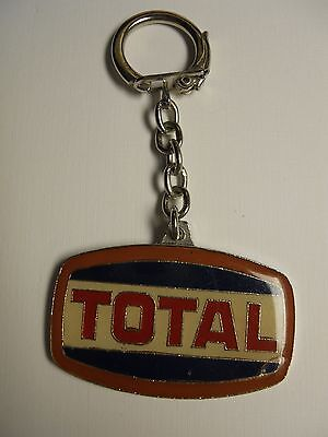 Vintage Total Oil Gas Fuel Metal Keychain Very Rare Total Maroc