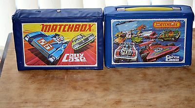 48 matchbox superfast cars,etc.- all original,from 70`s,in two carry cases.