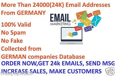 Buy More Than 24000(24K) Active GERMAN email addresses - Email Marketing