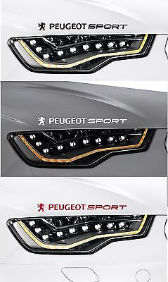 For Peugeot - 2 x PEUGEOT SPORT VINYL CAR DECAL STICKER  106 206 308  300mm long