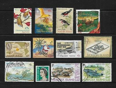 CHRISTMAS ISLAND & NORFOLK ISLAND, mixed collection, mainly used