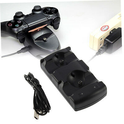 2 in 1 Dual Charging Game Station Charger Stand Dock Holder Mount for PS3 AO