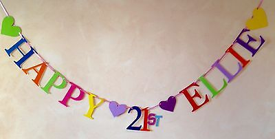 HAPPY 21st (ANY SINGLE NAME ) BIRTHDAY BANNER PARTY BUNTING DECORATION