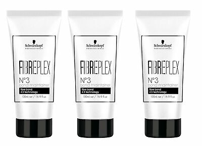 3x FIBREPLEX Nr. 3 Bond Maintainer 100ml Schwarzkopf