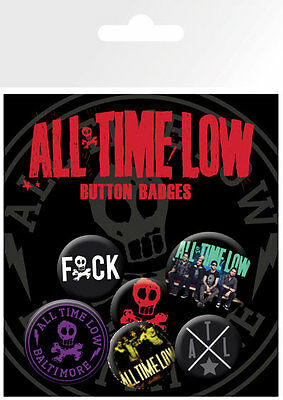 All Time Low Baltimore Badge Pack / Pin Set BRAND NEW