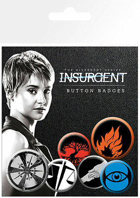 Insurgent Factions Badge Pack / Pin Set BRAND NEW
