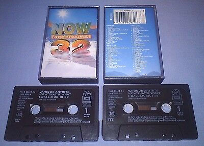 V/A NOW THAT'S WHAT I CALL MUSIC 32 Double cassette tape album T2814
