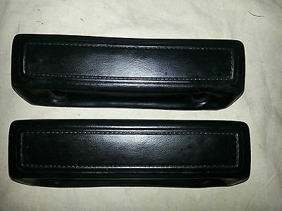 66 67 68 69 70 Dodge Plymouth B-body Charger 9 Inch BLACK Arm Rest Pads/Mopar