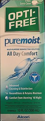 Opti-Free Puremoist All Day Comfort 10 oz Free Lens Case/ EXP 10-2017 OR LATER