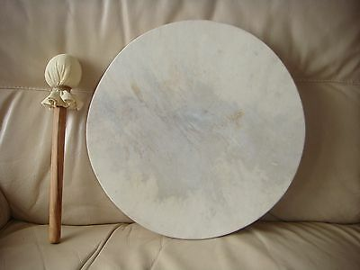 """Native American Style, Shaman, Pagan, Wiccan Round Drum 14"""" x 14"""" x 2"""""""