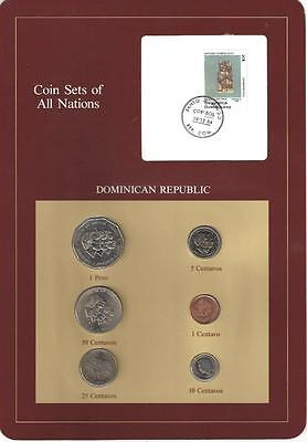 Coin Sets of All Nations - Dominican Republic, 6 Coin