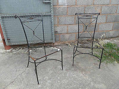 2 Matching Metal Chairs, Rare, Ideal Home Shop Bistro Bar Display, Barn Find