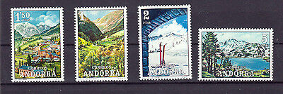 Spanish Andorra Stamps - 1972 Tourist Views Mint Condition (Set Of 4 Stamps)
