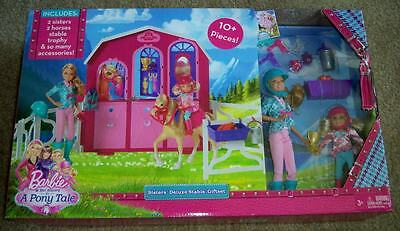 Barbie & Her Sisters in a Pony Tale Deluxe Stable Set~Horses, Dolls~New~LAST ONE