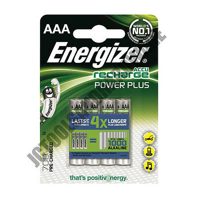 4 Pack Energizer Power Plus PreCharged AAA LR3 Rechargeable Batteries AAA 700mAh